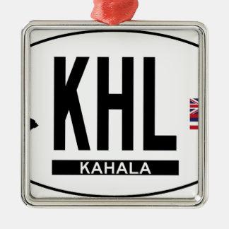 Hi-KAHALA-Sticker Metal Ornament