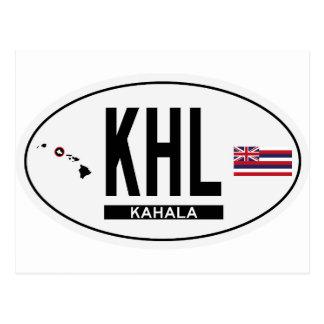 Hi-KAHALA-Sticker Postcard