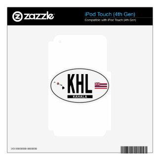 Hi-KAHALA-Sticker Skin For iPod Touch 4G