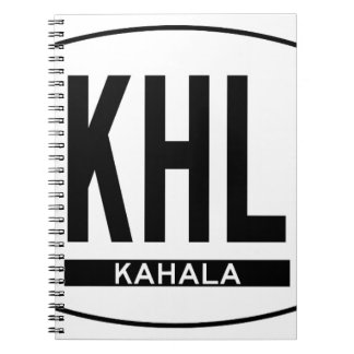 Hi-KAHALA-Sticker Spiral Notebook
