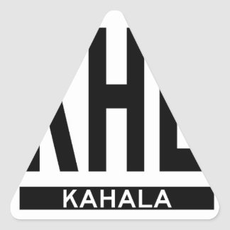 Hi-KAHALA-Sticker Triangle Sticker