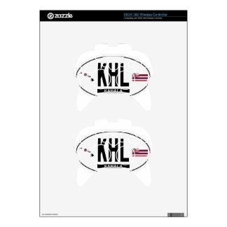 Hi-KAHALA-Sticker Xbox 360 Controller Decal