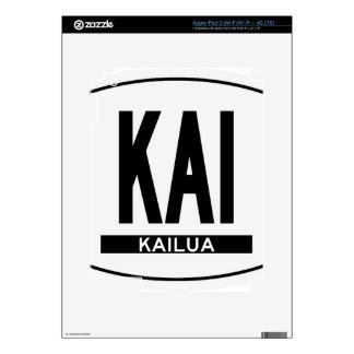 Hi-KAILUA-Sticker iPad 3 Decal
