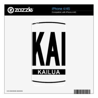 Hi-KAILUA-Sticker Skins For iPhone 4S