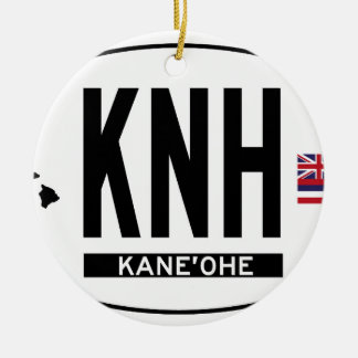 Hi-KANEOHE-Sticker Double-Sided Ceramic Round Christmas Ornament