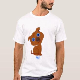 Hi! Little brown dog, big blue eyes T-Shirt