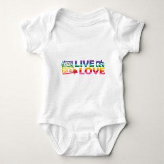 HI Live Let Love Baby Bodysuit