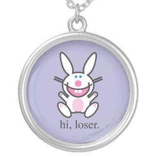 Hi Loser Round Pendant Necklace