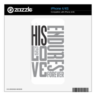 Hi Love Endures Forever iPhone 4 Decal