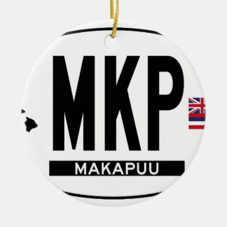 Hi-MAKAPUU-Sticker Double-Sided Ceramic Round Christmas Ornament