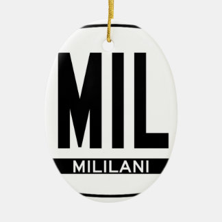 Hi-MILILANI-Sticker Double-Sided Oval Ceramic Christmas Ornament