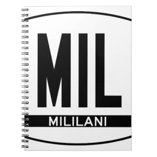 Hi-MILILANI-Sticker Spiral Notebook