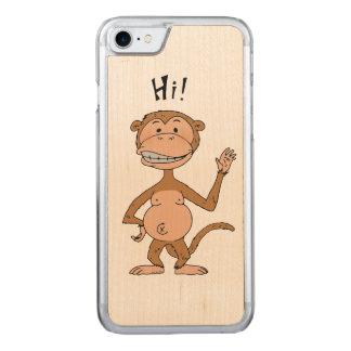 HI monkey Carved iPhone 7 Case