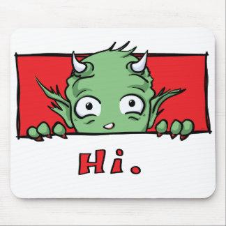 """Hi."" Monster - Mousepad"