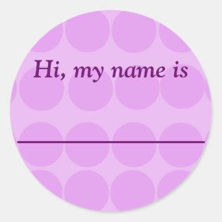 """Hi, my name is _________"" Classic Round Sticker"