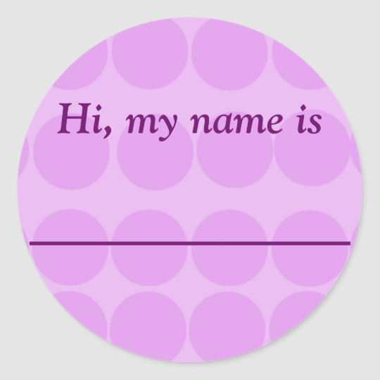 """Hi, my name is _________"" Classic Round Sticker"