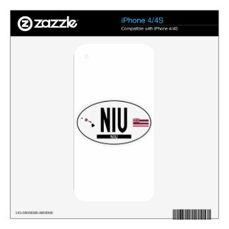 Hi-NIU-Sticker iPhone 4 Decal