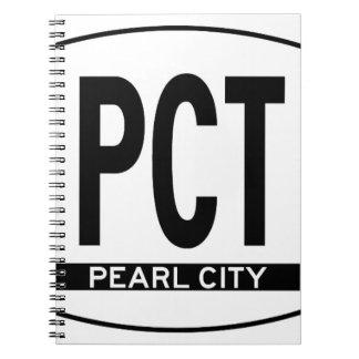 Hi-PEARL-CITY-Sticker Spiral Notebook
