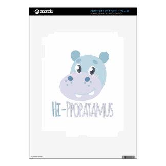 Hi-ppopatamus Skins For iPad 3