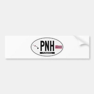 Hi-PUNAHOU-Sticker Bumper Sticker