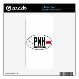 Hi-PUNAHOU-Sticker Decal For The iPhone 4