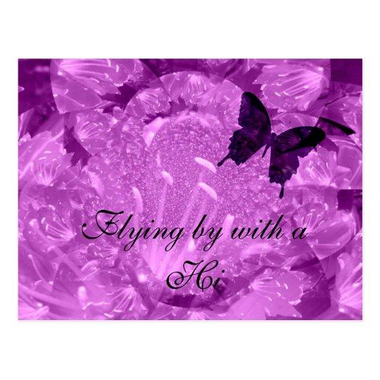 Hi Purple Wings Postcard