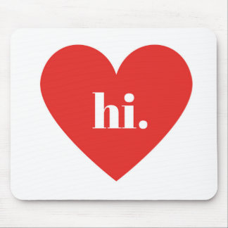 HI Red Heart Illustration Valentines Collection Mouse Pad