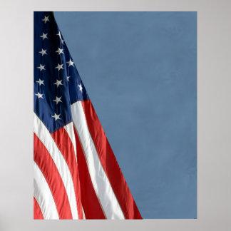 Hi Res COMPACT PHOTO BACKDROP - US Flag on Slate Poster