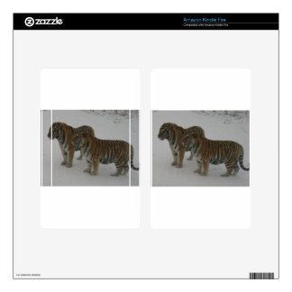Hi-Res Two Siberian Tigers Kindle Fire Decals