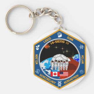HI-SEAS Mission III Gear Basic Round Button Keychain