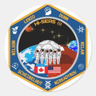 HI-SEAS Mission III Gear Classic Round Sticker