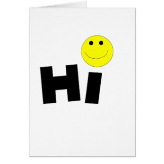 Hi (Smiley Face) Card