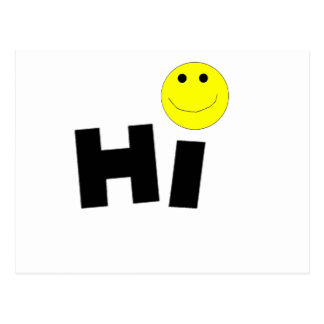 Hi (Smiley Face) Post Cards