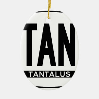 Hi-TANALUS-Sticker Double-Sided Oval Ceramic Christmas Ornament