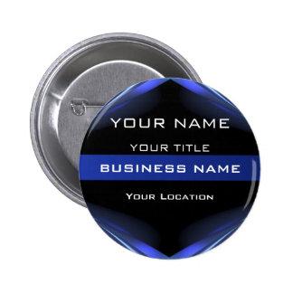 Hi Tec Futuristic Business Name Tag 2 Inch Round Button