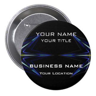 Hi Tec Futuristic Business Name Tag Button