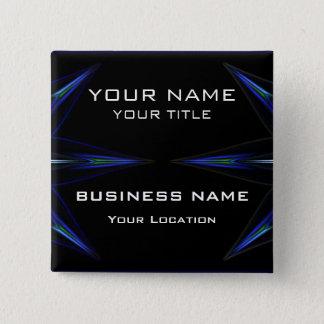 Hi Tec Futuristic Business Name Tag Pinback Button
