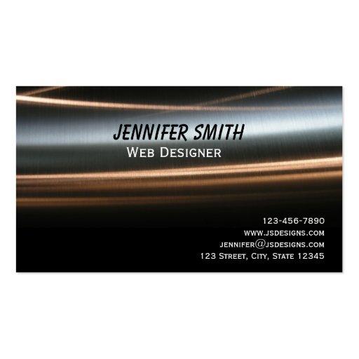 Hi Tech Bronze Wave Business Card