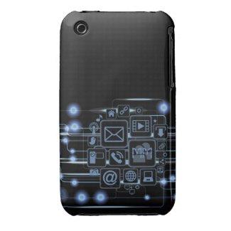 Hi-Tech Concept Initials iPhone 3 Case