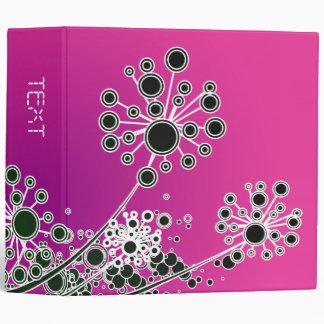 Hi Tech Flower On Magenta Background Vinyl Binder
