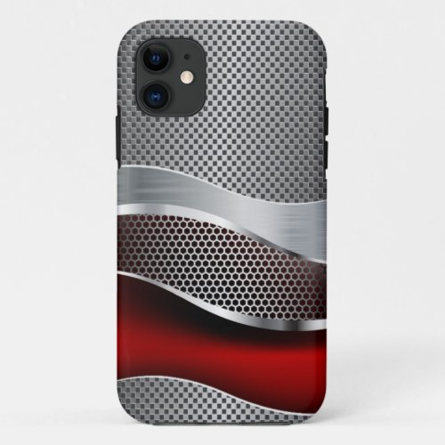 Hi Tech Futuristic Mesh Chrome Red Phone Case