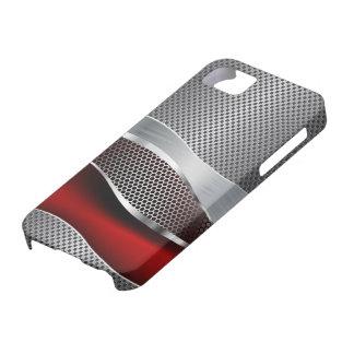 Hi Tech Futuristic Mesh Chrome Red iPhone SE/5/5s Case