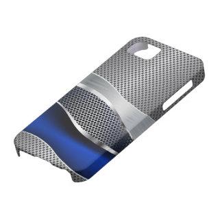 Hi Tech Futuristic Mesh Chrome Sapphire iPhone 5 Covers
