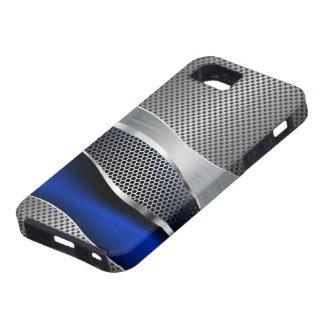 Hi Tech Futuristic Mod Mesh Chrome and Sapphire iPhone SE/5/5s Case
