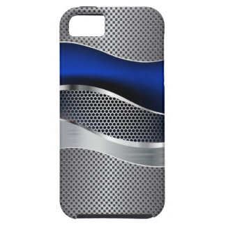 Hi Tech Futuristic Mod Mesh Chrome Sapphire2 iPhone SE/5/5s Case