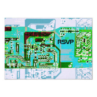 Hi-tech geek wedding RSVP card Personalized Announcement