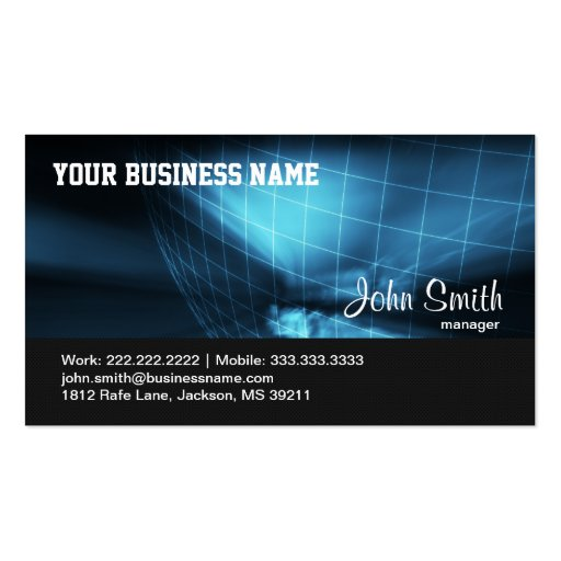 Hi-tech Global Company business card