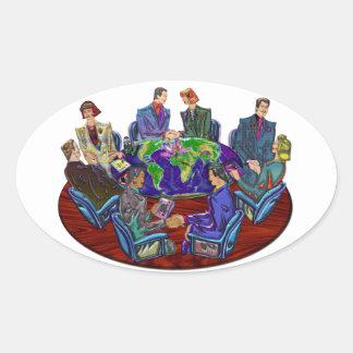 Hi Tech Global Interacting Oval Sticker