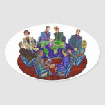 Hi Tech Global Interacting Oval Stickers