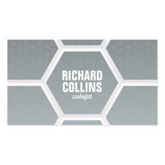 Hi-Tech Honeycomb Pattern - Gray Double-Sided Standard Business Cards (Pack Of 100)